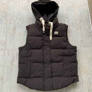 Superdry University Vest Body Warmer Hooded Down L